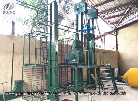Palm nut cracking and separating machine successfully installed in Abidjan,Ivory coast