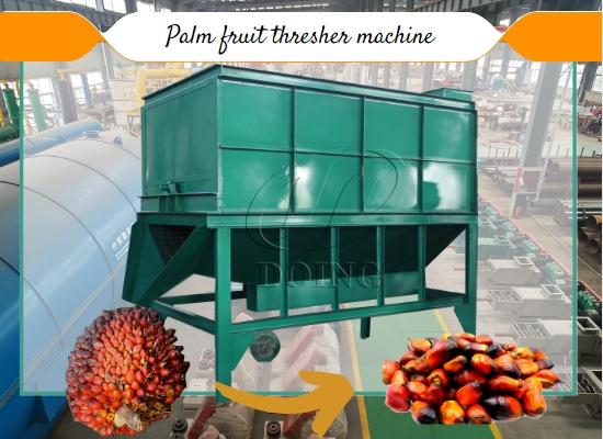 Palm fruit thresher machine