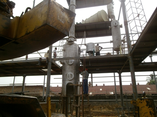 Palm oil refinery machine in customer factory