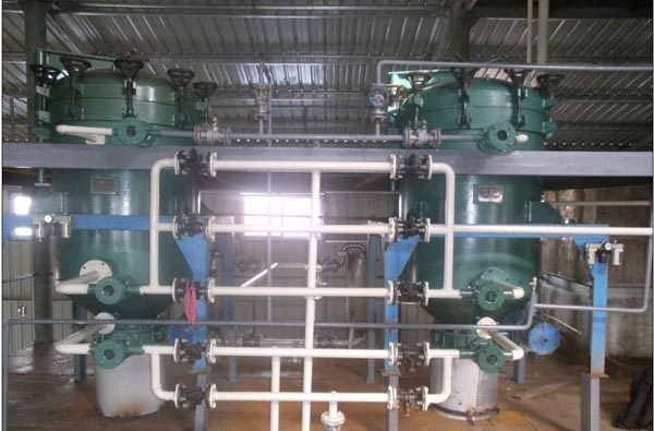 Finshed install palm oil refinery plant