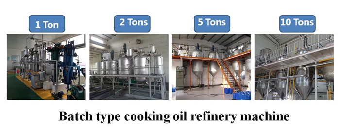 batch edible oil refinery machine