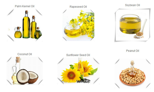various crude cooking oil