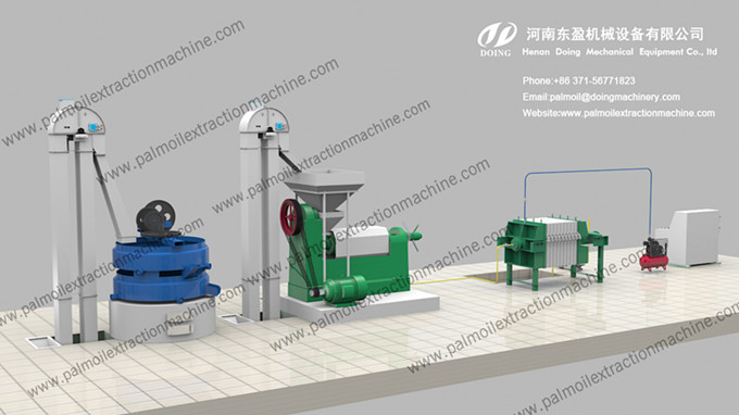 palm kernel oil press processing machine