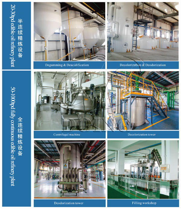 semi-continuous palm oil refining machine