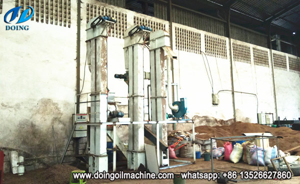 palm kernel cracking and separating machine