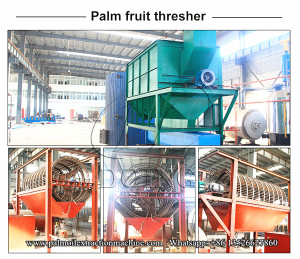 palm fruit threshing machine